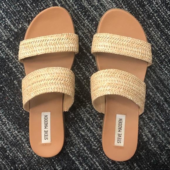 Steve Madden Dede Woven Slide Sandals